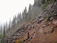 The ridgeline to Breitenbush (photo by Mike Davis).