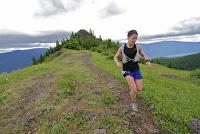 Running across Hamilton Ridge.