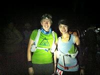 Sarah D and me at the start