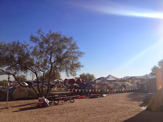 Tent village at Javelina Jeadquarters