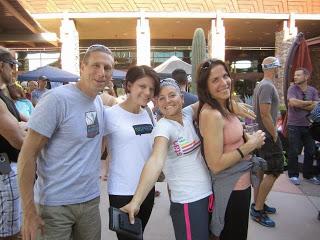 Brian, Dana, Kara, and me at bib pickup