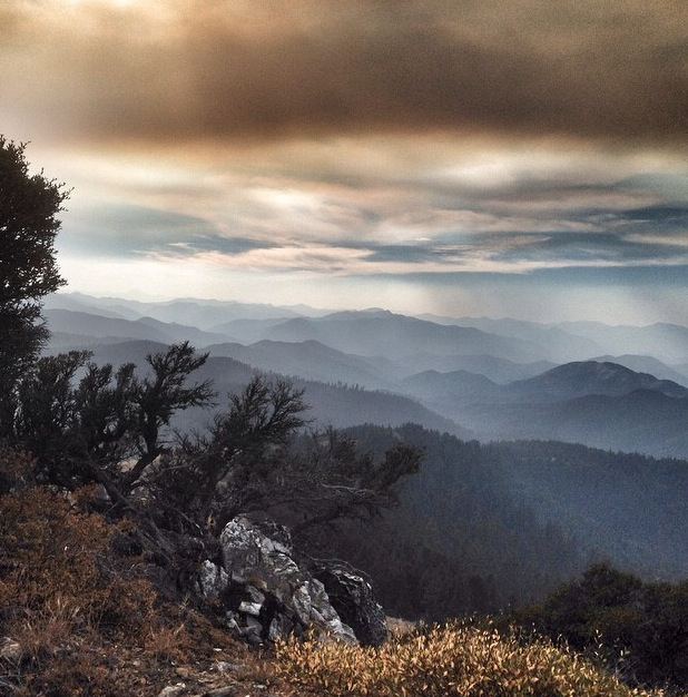 Smoke from the forest fires (photo by Hal Koerner).