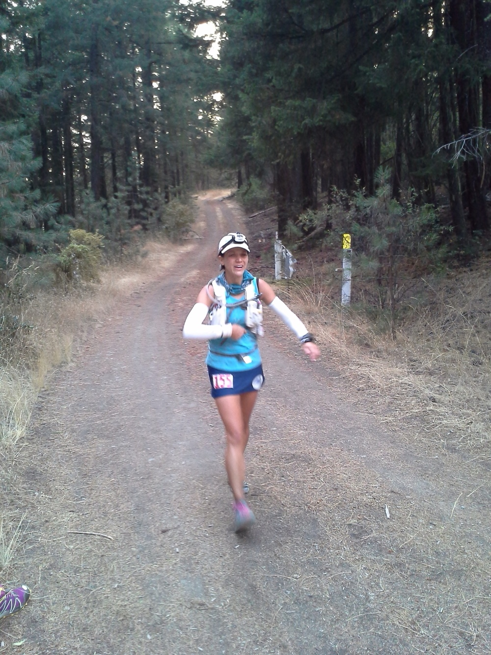 """Running in to Hanley Gap. Me: """"Uh...you guys...it's still daylight"""" (photo by Sarah Duncan)."""