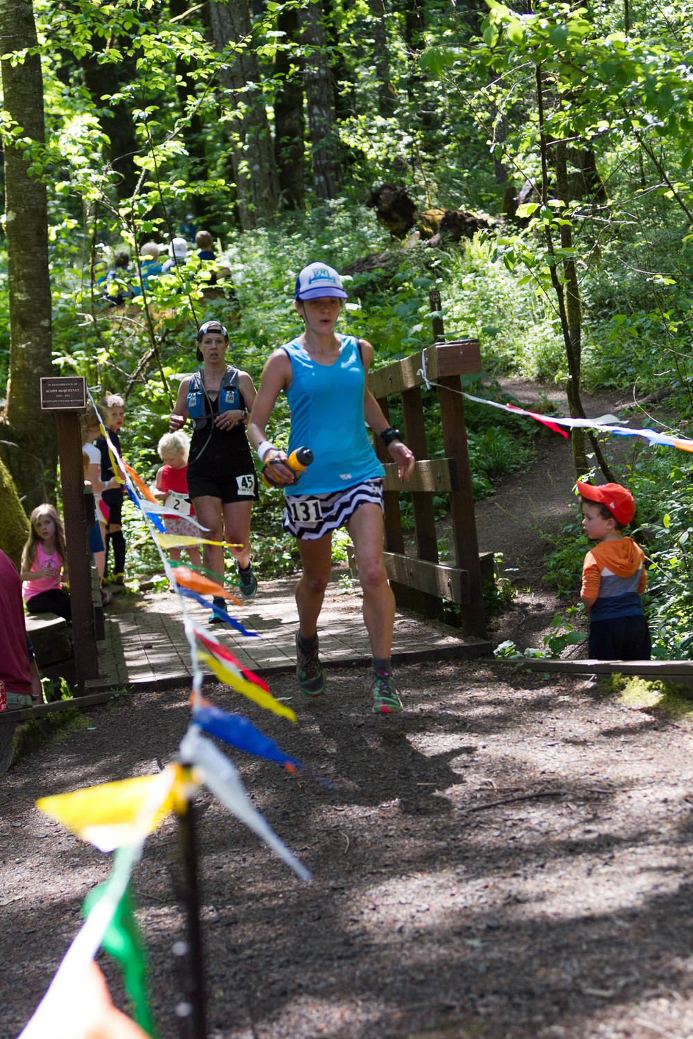 Finishing the McDonald Forest 50k (photo by Michael Leibowitz) .