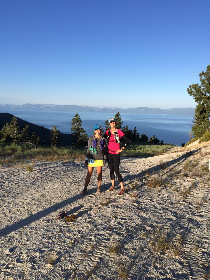 Kari and me at the top of Diamond Peak, mile ~82.