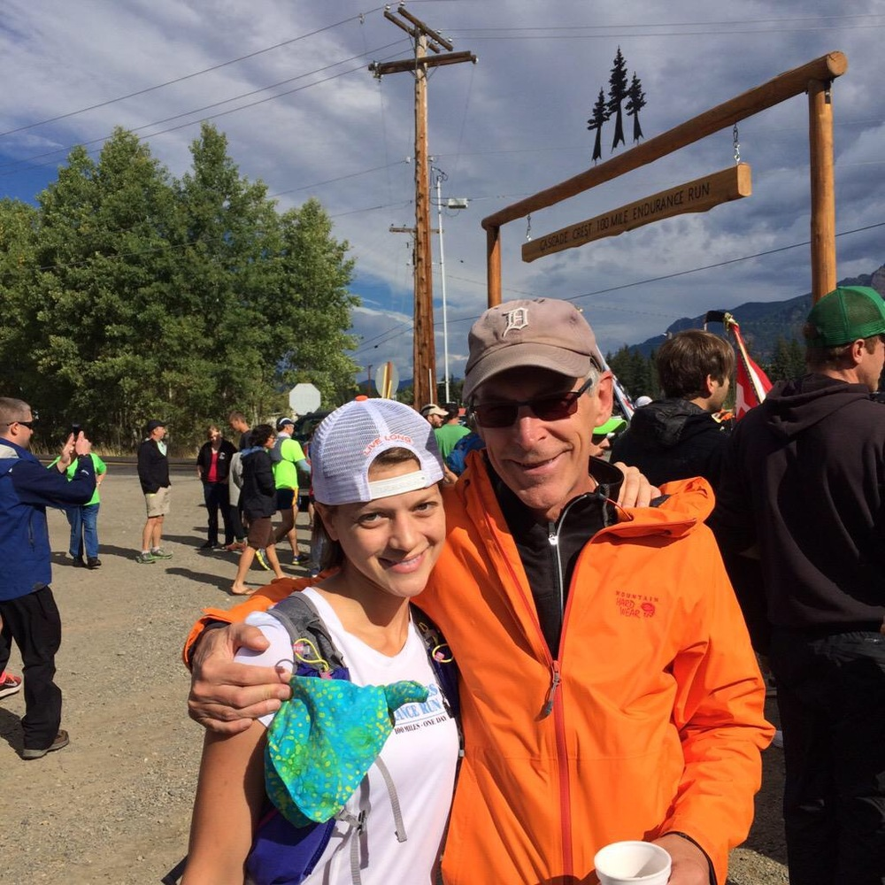 Larry and me at the start line (photo by Sarah Duncan).