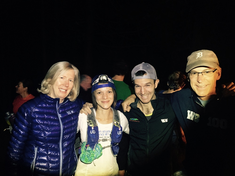 Sarah, Jason, Larry, and me at the start (photo by Dana Katz).