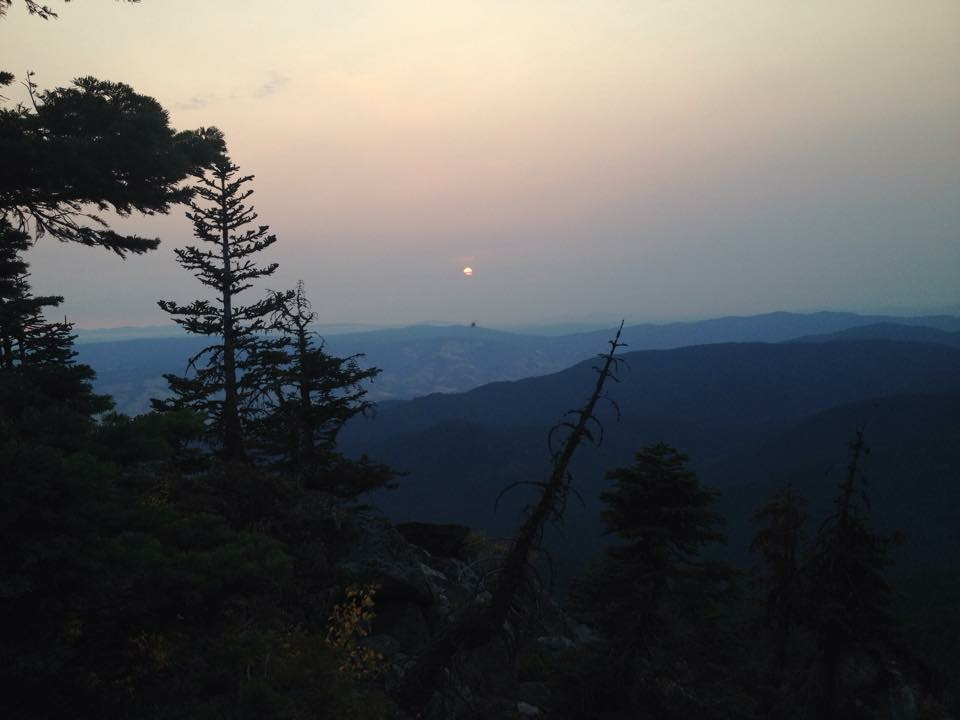 The sunrise from Wagner Butte (photo by Larry Stephens).