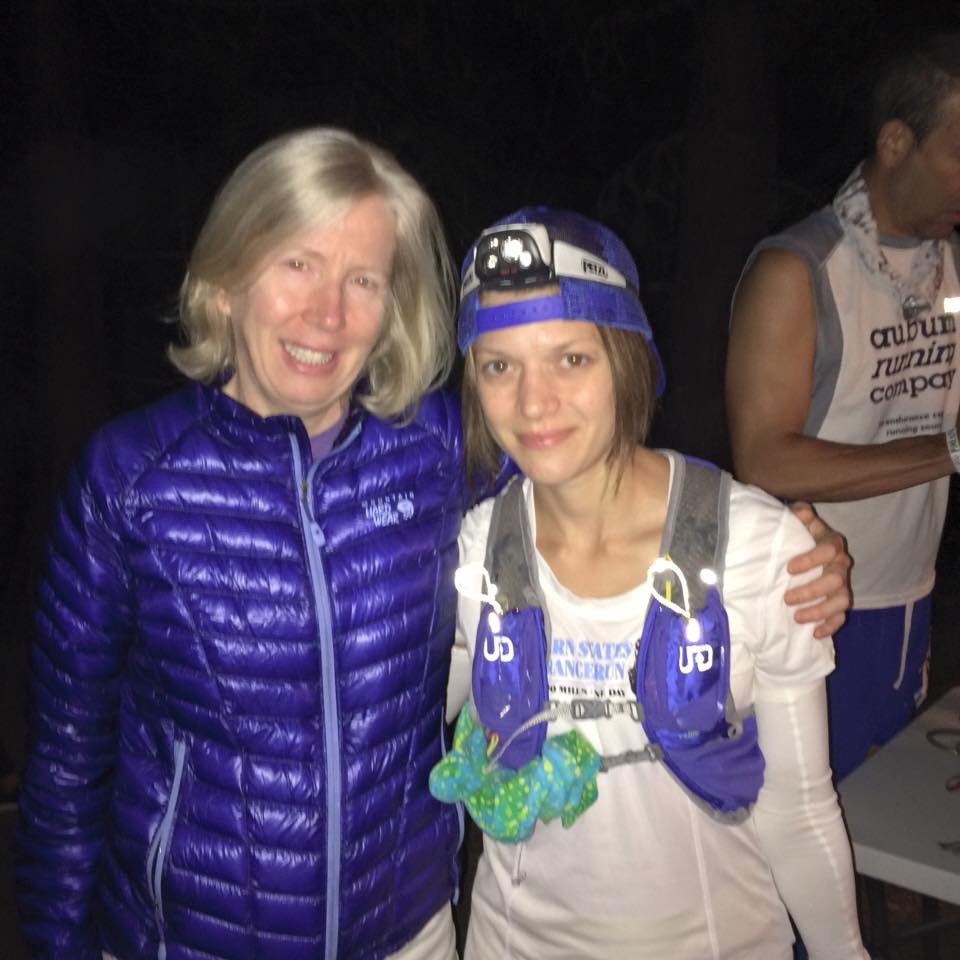 Sarah and me at the start line. So thankful to have her to pace me from Dutchman Peak (photo by Larry Stephens).