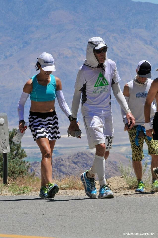 Larry and me at Badwater (~mile 132), 2014.