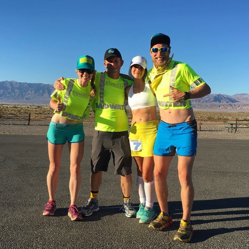 Jenn, Darin, Jeff, and me before driving to the start.