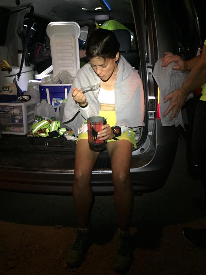 Refueling at the Father Crowley summit, ~mile 86 (photo by Jenn Love).