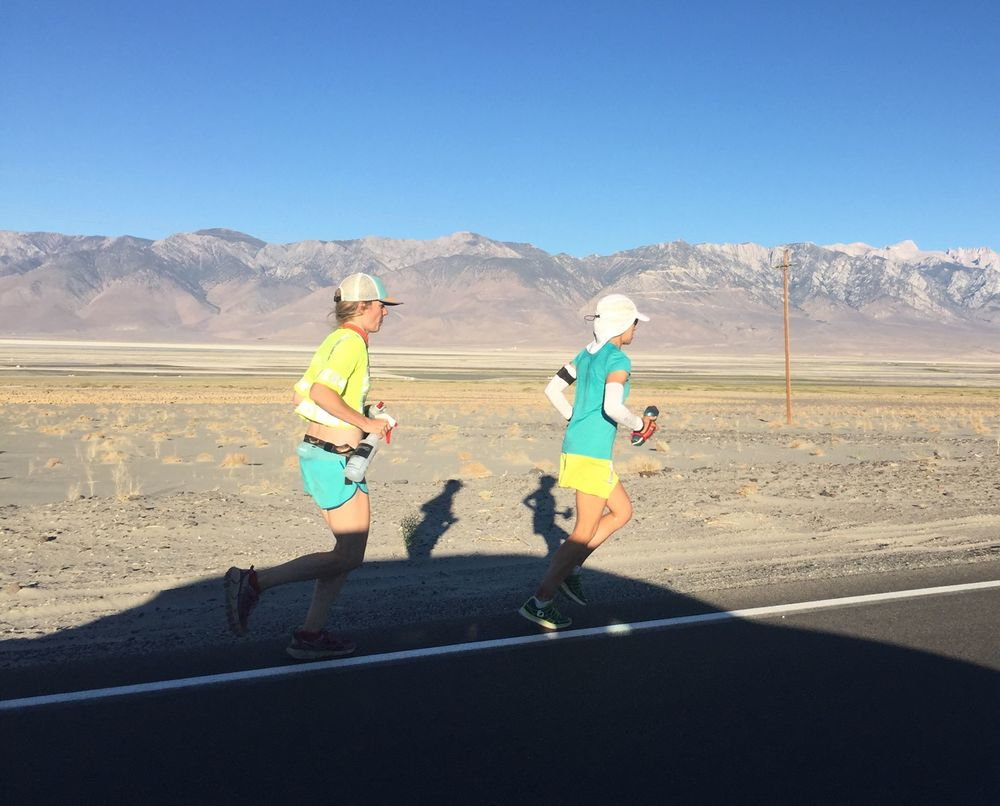 Jenn and me around mile 120 (photo by Darin Swanson).