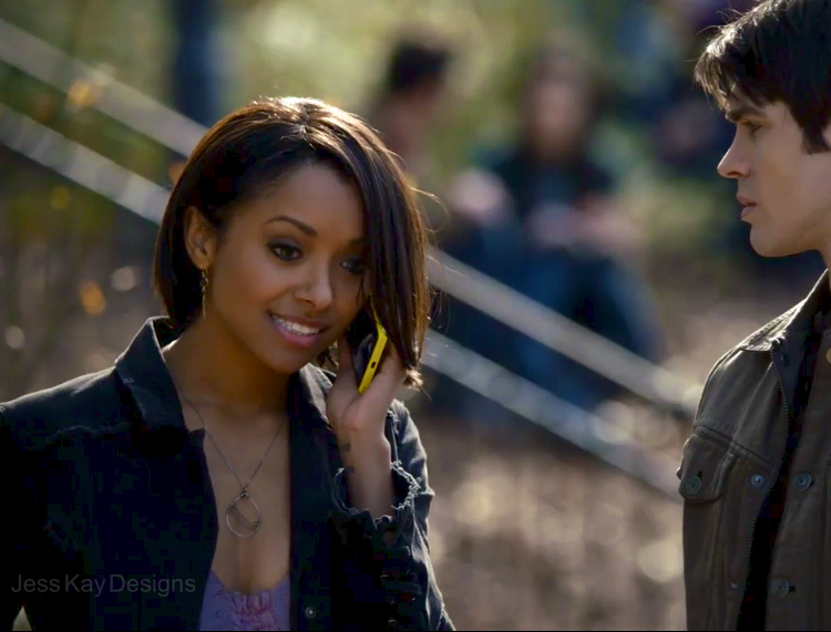 "Jess Kay Designs necklace featured on  The Vampire Diaries , Season 5 Episode 15. Worn by  Kat Graham  as ""Bonnie"""