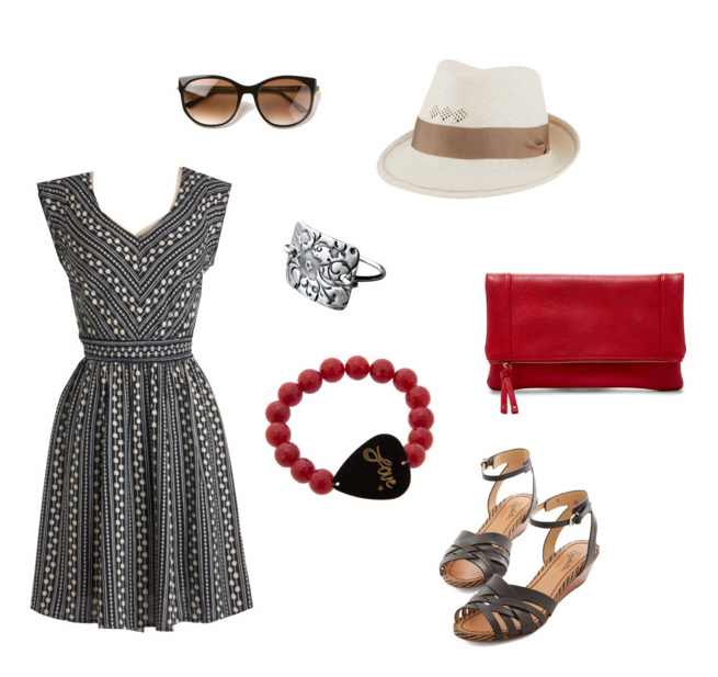 Summer Outfit Black and Red