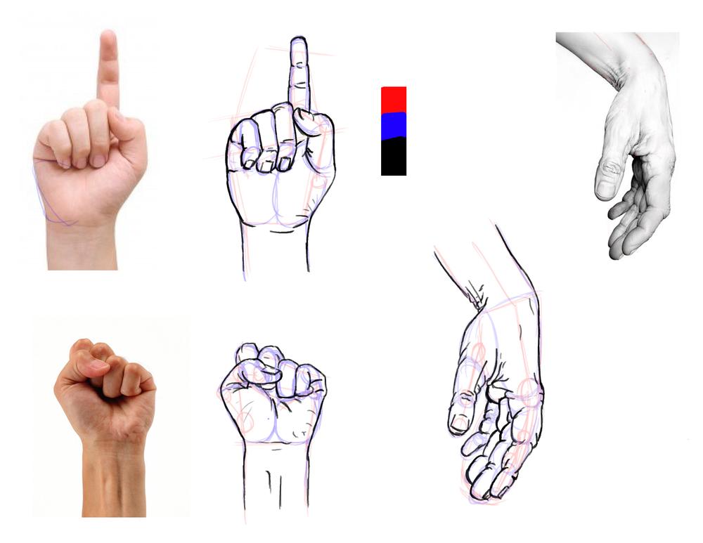 Studies of hands