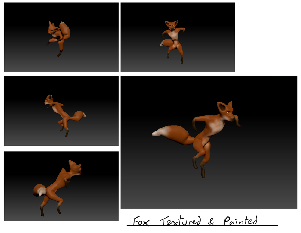 Zbrush model. It's a fox... obviously.