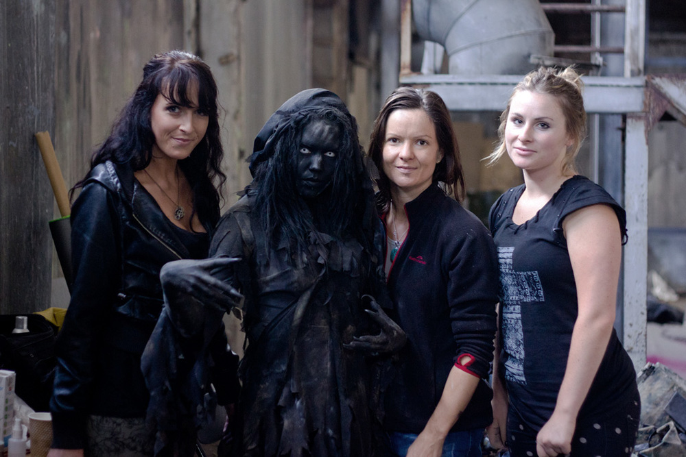 Team Raven, from left - Andrea, Hannah, Nikki and Sophie