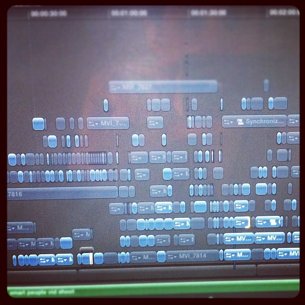"Screen shot of the final cut of ""smart problems"" in #finalcutx. Cuss words. (Taken with  instagram )"