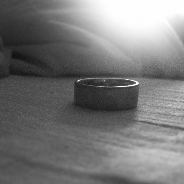It may not seem like much but this piece of metal that I wear around my finger is a lens through which I see the fullest life I've ever known. #ring (Taken with  instagram )