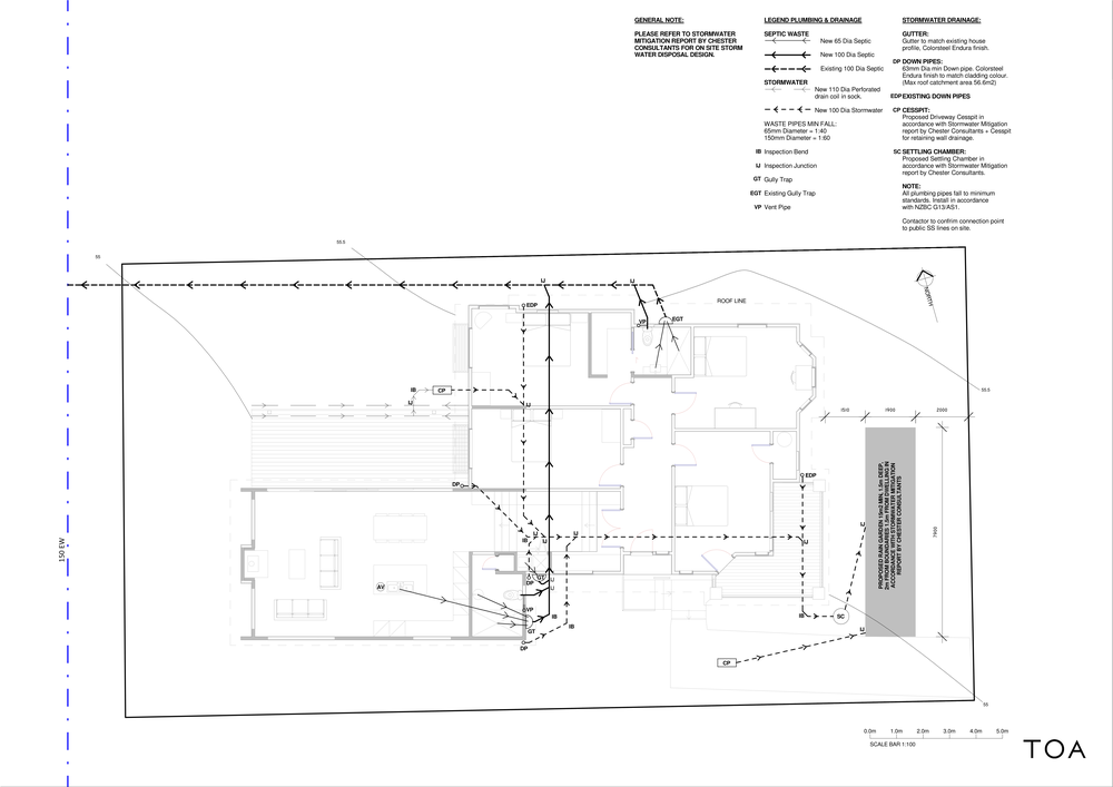 8 WESTMINSTER RD - BC WORKING FILE (2) - Sheet - A2-06 - PROPOSED PLUMBING + DRAINAGE PLAN.png