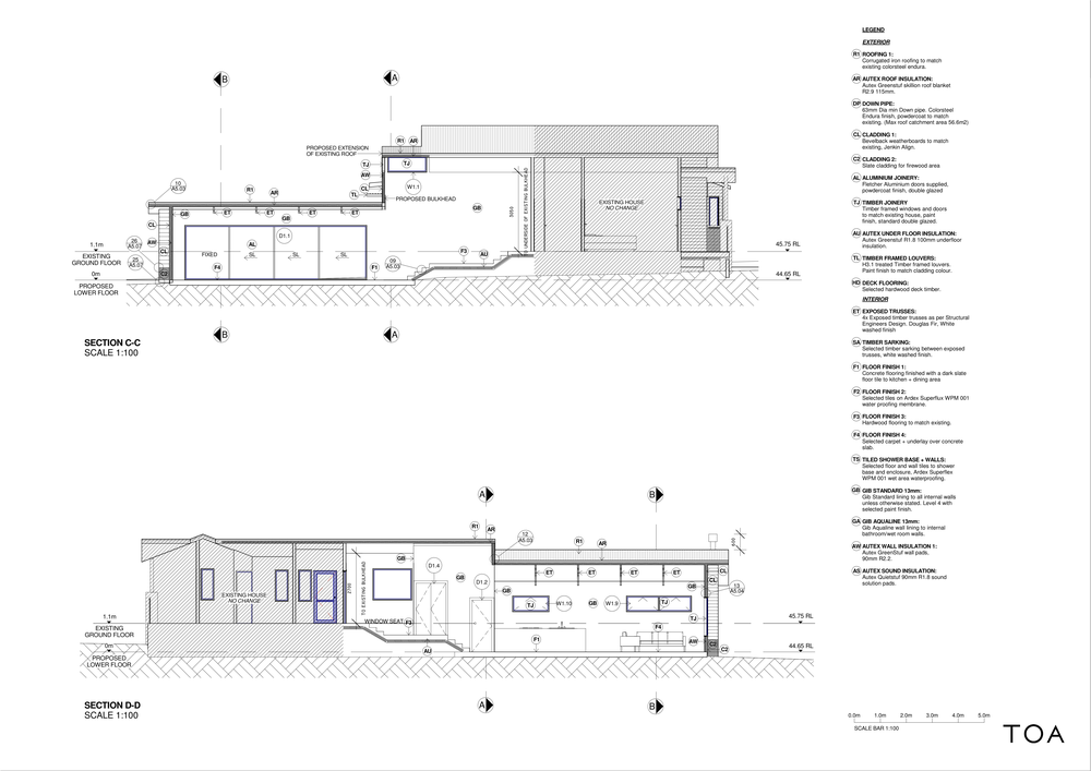 8 WESTMINSTER RD - BC WORKING FILE (2) - Sheet - A3-02 - SECTION LONG C-C, D-D.png