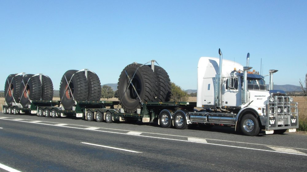 A+B Triple 3x4 Drop Deck Tyre Transporter