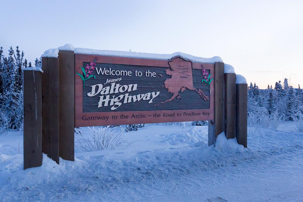 Entering the Dalton Highway