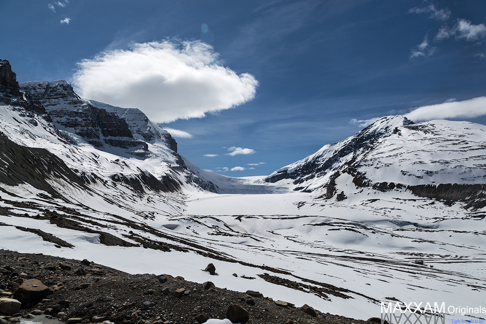 The Columbia Icefields are a fantastic break in the drive from Banff to Jasper and well worth the long hike from the road along the ice.