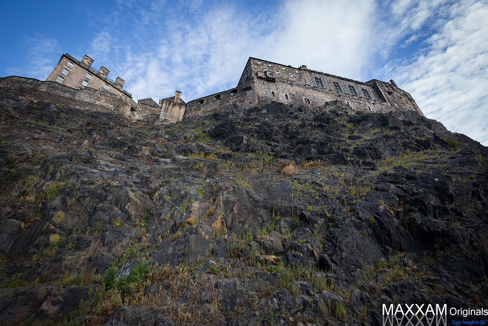 Edinburgh Castle from far below