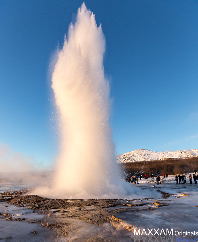 The Strokkur geyser eruption
