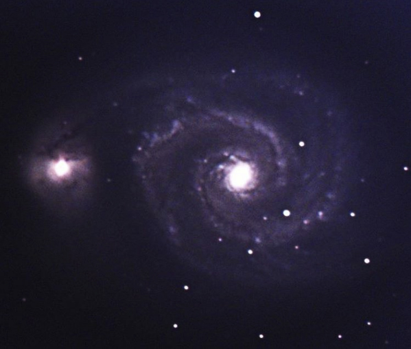 The Whirlpool Galaxy - m51a and it's companion m51b