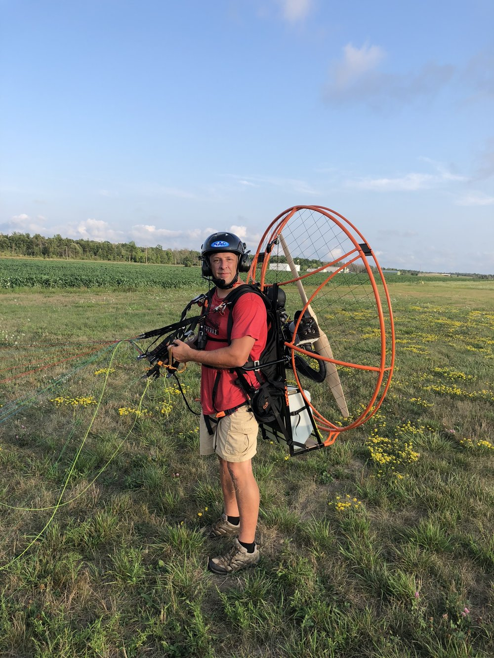 Photo by Andre Zeman, Owner of Powered Paragliding Ontario - Pre-flight smiles