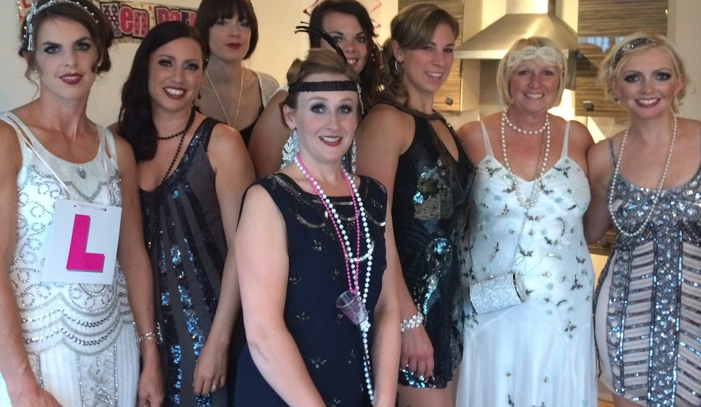 The Great Gatsby Party The Flappers Arrived Orchid Blush Hair And Make Up Blog Orchid