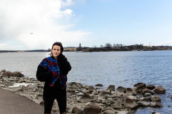Ronyalla on monia hyviä muistoja Itämereltä. Kuva Kaivopuiston rannasta.
