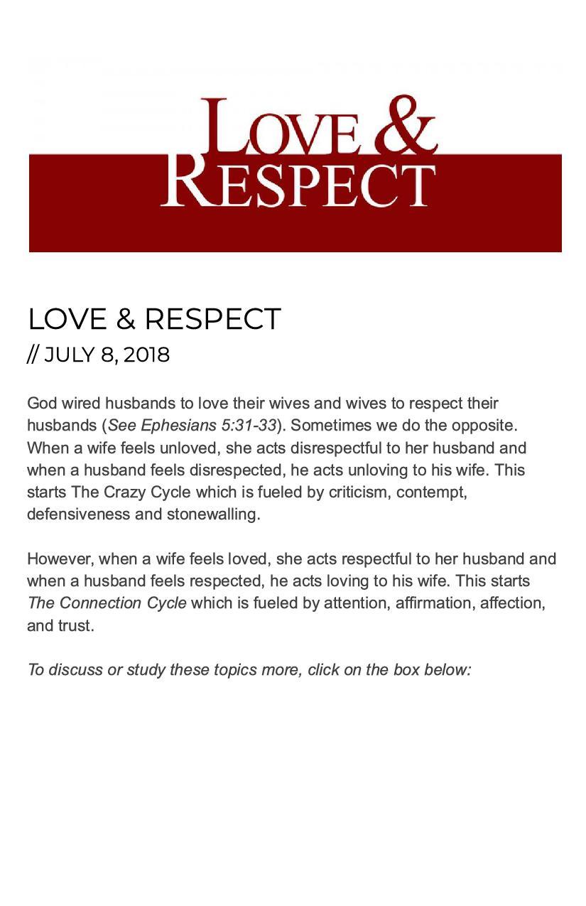 Love Respect Living Water Church