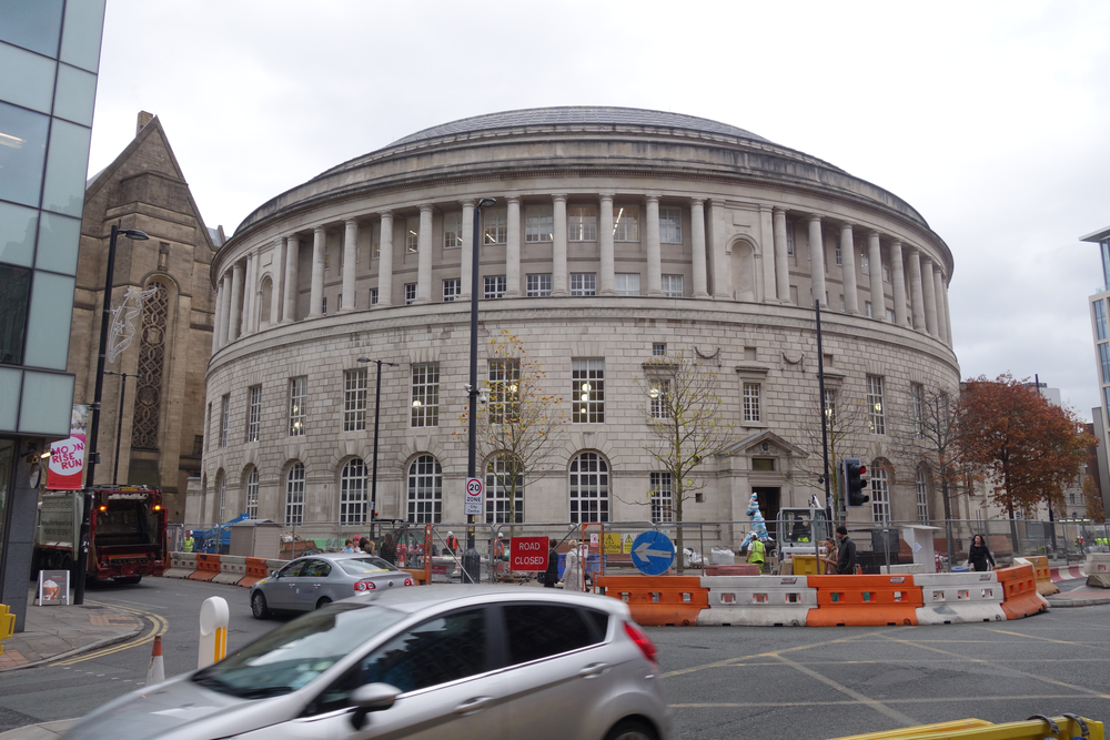"The Manchester Library is an amazing, perfectly round building, with a reading room in the second floor ""Bell."""