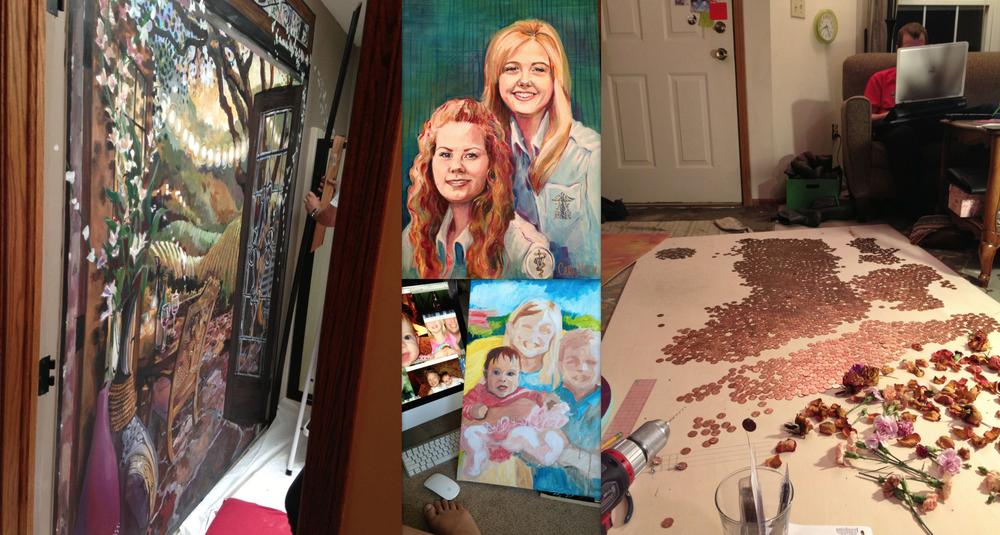 paintings, portraits, pennies!