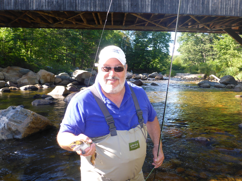 Fred with a solid Ellis River Brook Trout.