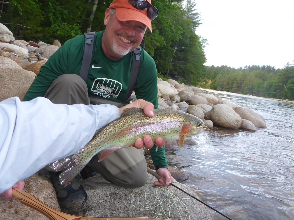 Michael Lewis with a hefty Saco Bow.