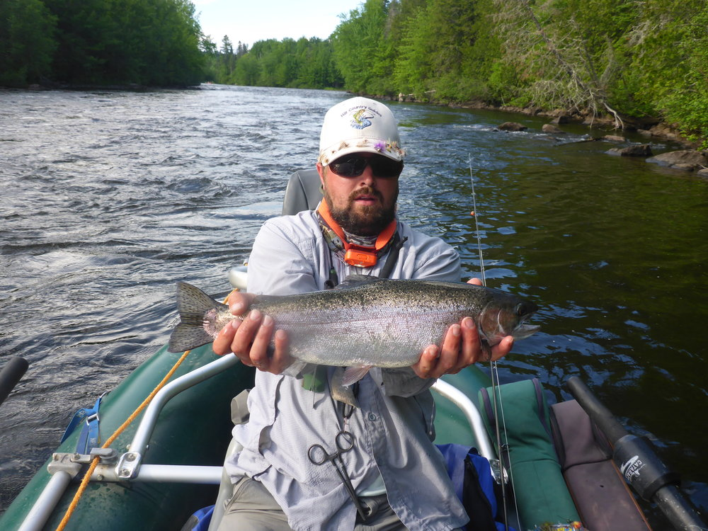Large rainbow from the upper river.