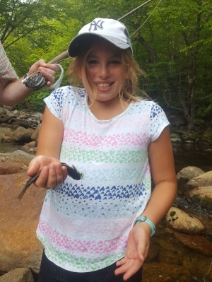 A wild brook trout stream is a great place to introduce people to fly fishing!