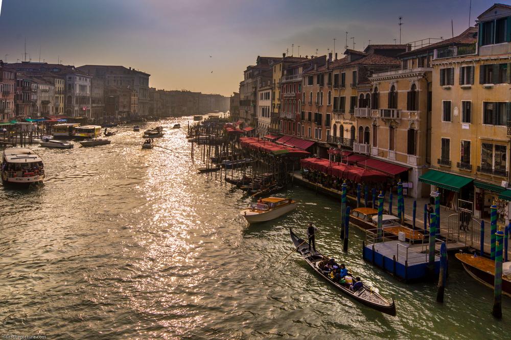 The Grand Canal Venice from the Rialto Bridge