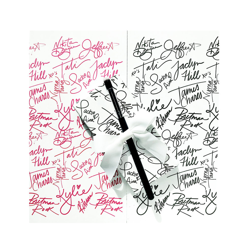 Copy of makeup artist gift wrap james charles bretman rock jeffry star