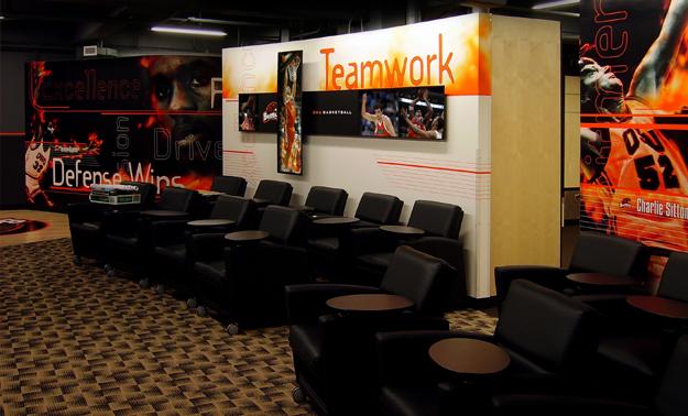 Oregon State University Basketball Locker Room, with Oslund Design