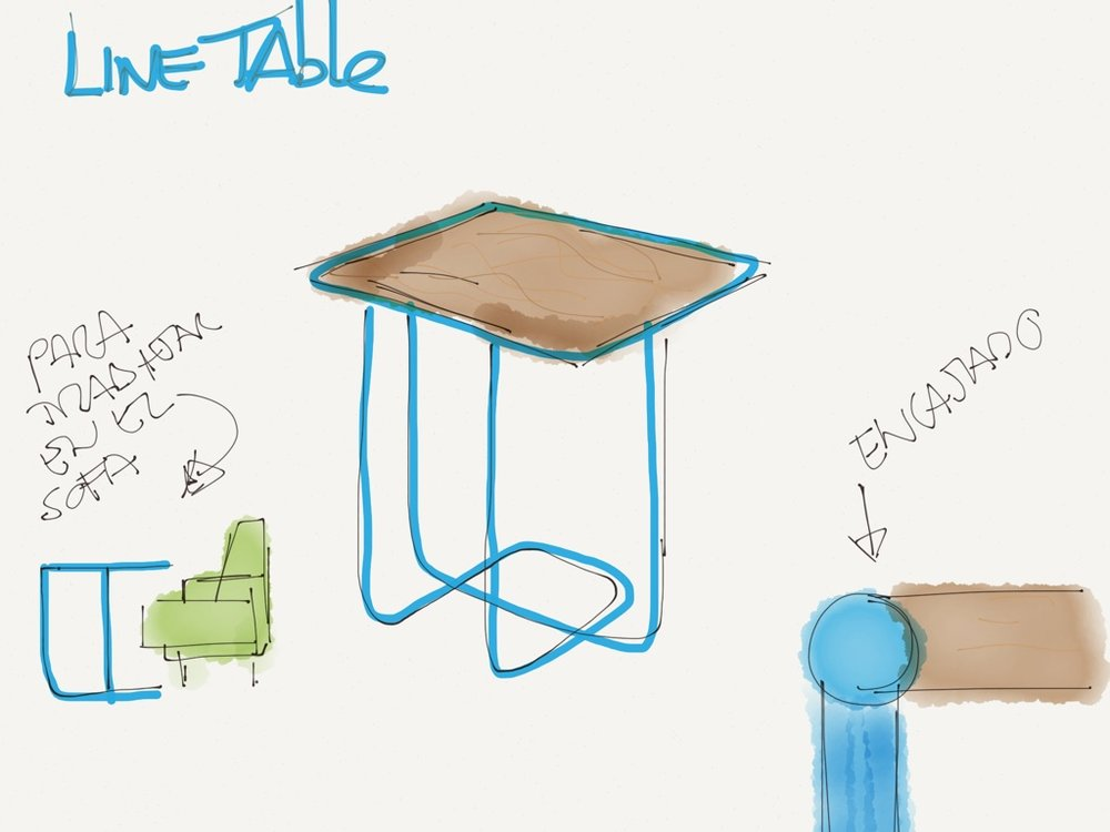 Line side tables-sketch-Silvia Cenal