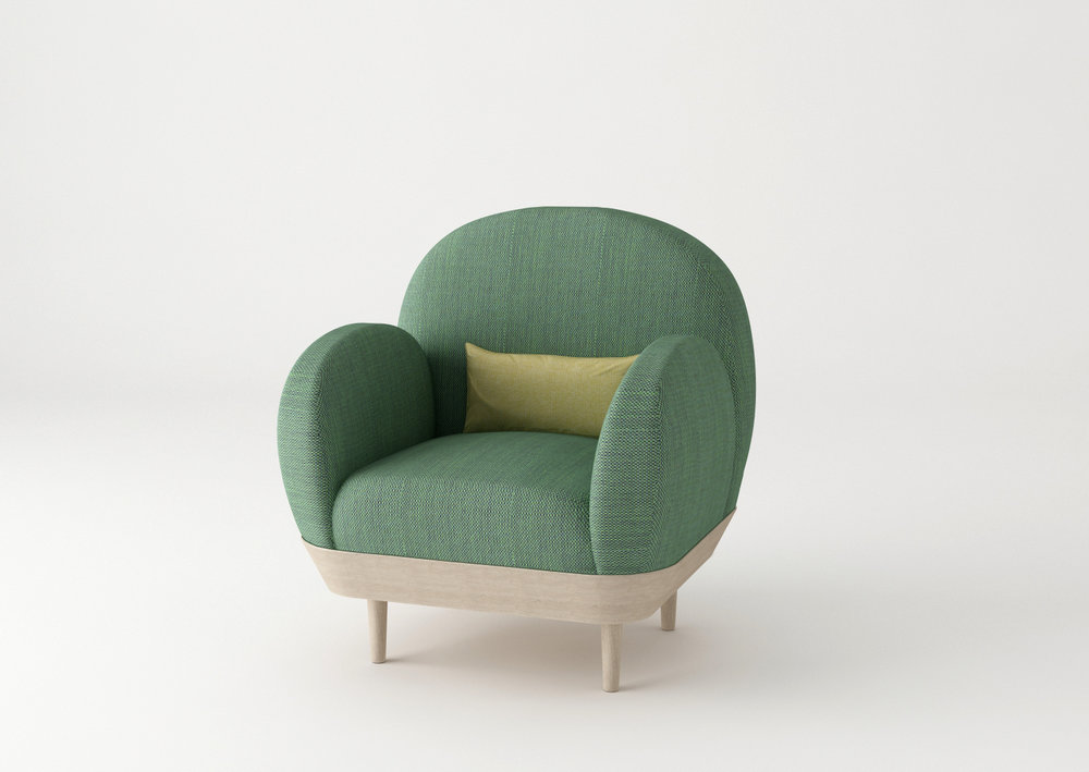 Basket sofa by SIlvia Ceñal