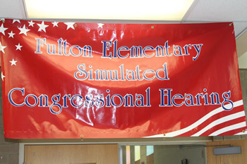Simulated Congressional Hearing Banner