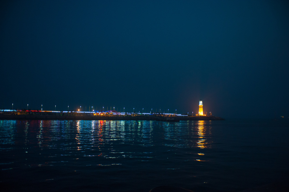 Qingdao's lighthouse on the second pier.