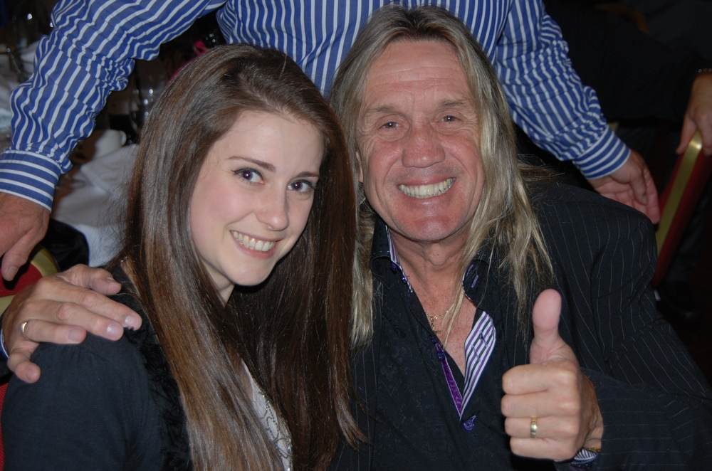 Nicko McBrain and I at the reception